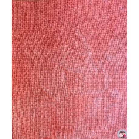 32 count Linen - Coral