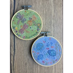 Spring & Summer Hoops - Blackwork